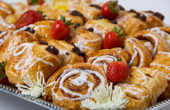 pastries and strawberries